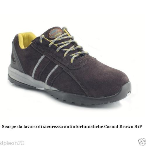 Scarpe da lavoro di sicurezza antinfortunistiche Casual Brown S1P in pelle  38-47 METAL FREE 1a89bb0b440