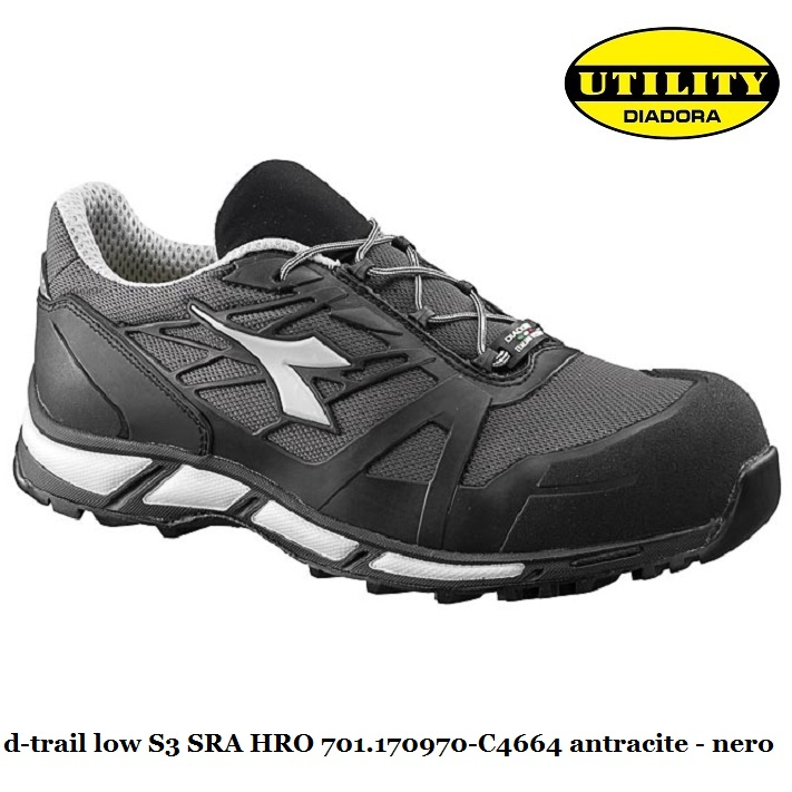 Scarpe Antinfortunistica Diadora Utility D TRAIL HIGH S3 SRA HRO ANTRACITE/NERO