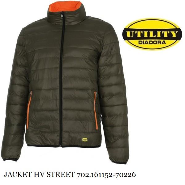 diadora utility giacca uomo rosso