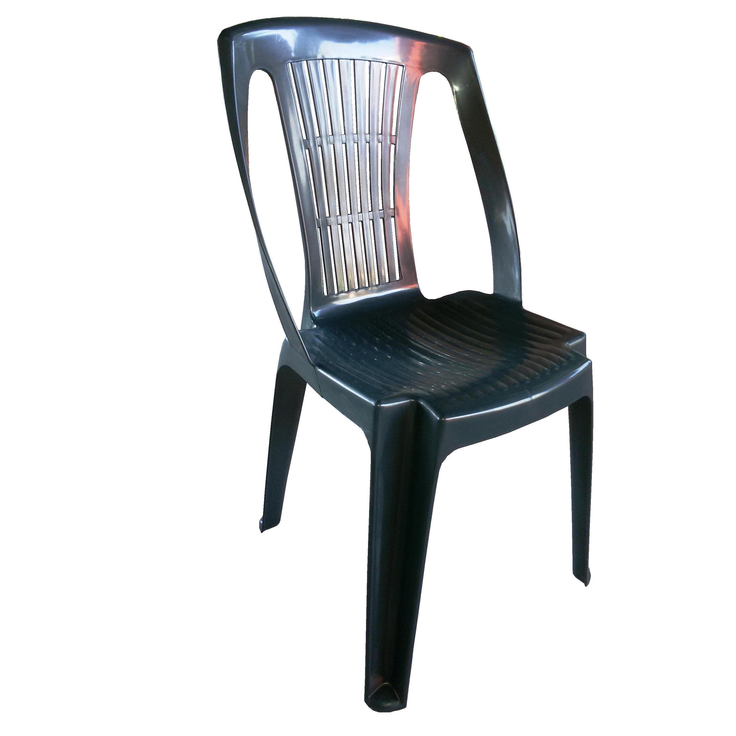 Sedia in plastica giardino senza braccioli colore verde - Sedie da giardino in plastica ...