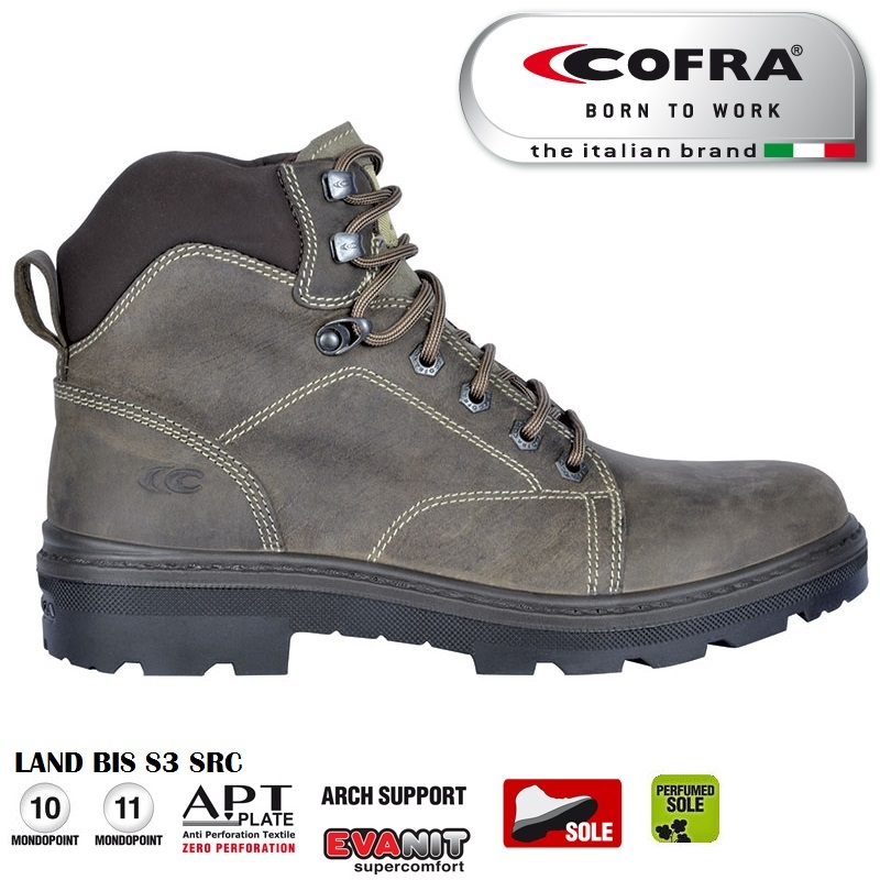 new products 1edc1 d03d6 Scarpa antinfortunistica Cofra LAND BIS S3 SRC scarpe lavoro traspiranti  idrorepellenti linea FRONTLINE - CALZATURE COFRA - Antinfortunistica ...