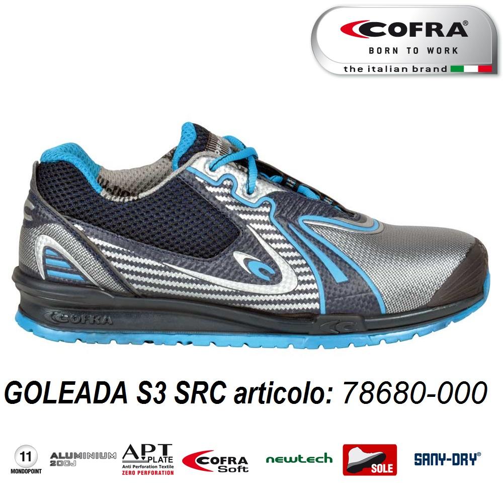 meet 8eaaf e4c2c Scarpa antinfortunistica Cofra GOLEADA S3 SRC scarpe lavoro idrorepellente  e traspirante tessuto NEWTECH linea RUNNING - CALZATURE COFRA - ...