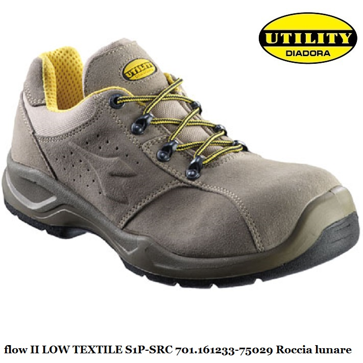 Scarpa bassa antinfortunistica FLOW II LOW S1P SRC Utility Diadora, grigio roccia lunare 701.161233 75029 calzature diadora Antinfortunistica
