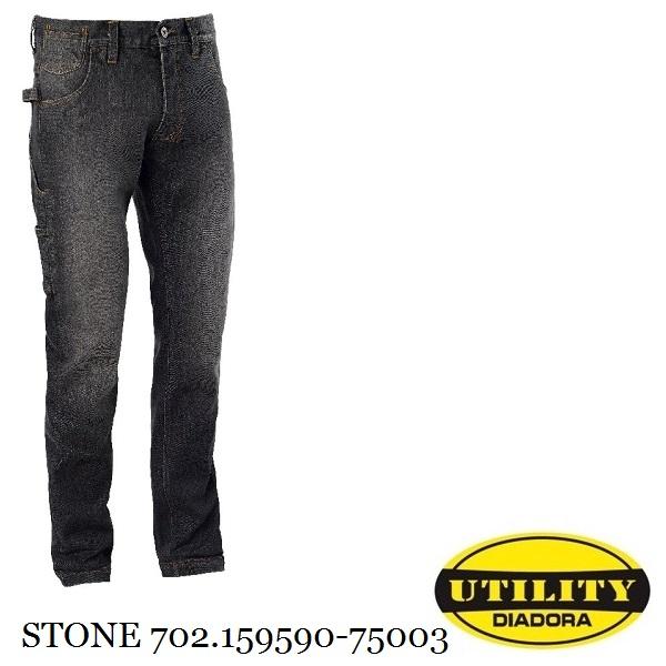 Pantalone Jeans Passante con portamartello DIADORA UTILITY JEANS STONE Grigio 159590 75003