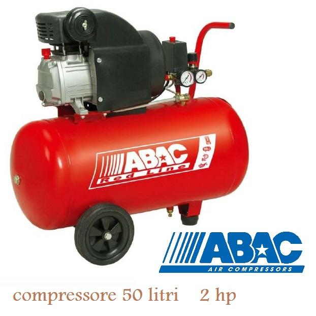 Compressore ABAC 50 LT montecarlo RC2 2 HP Red Line coassiale LUBRIFICATO