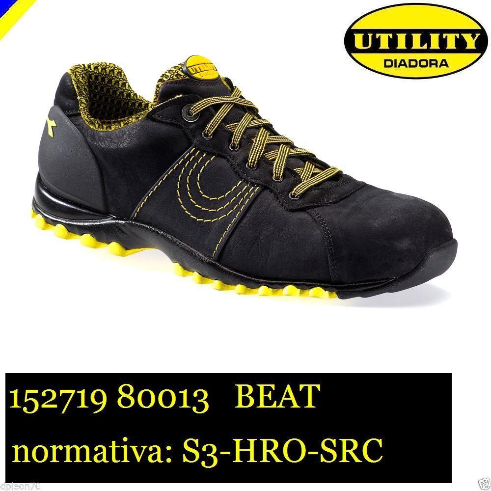new concept 51a99 03341 SCARPE ANTINFORTUNISTICHE DIADORA UTILITY MATCH BEAT S3-HRO-SRC NERO  701.152719-80013 - calzature diadora - Antinfortunistica abbigliamento  calzature