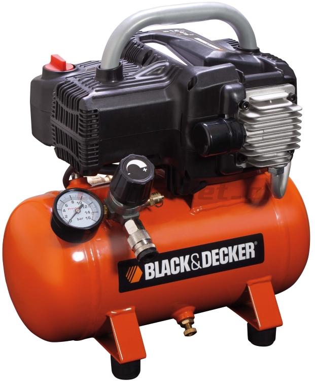 Black&Decker Compressore aria portatile 6 litri 1,5Hp aria compressa BD195/6-NK