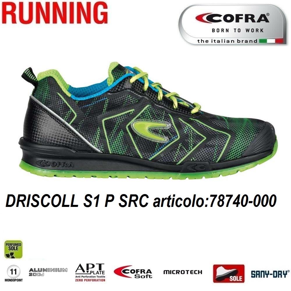 promo code 911cc 971e6 Scarpa antinfortunistica Cofra DRISCOLL S1 P SRC scarpe lavoro tessuto  altamente traspirante e MICROTECH , DGUV 112 - 191, protezione della punta  , ...