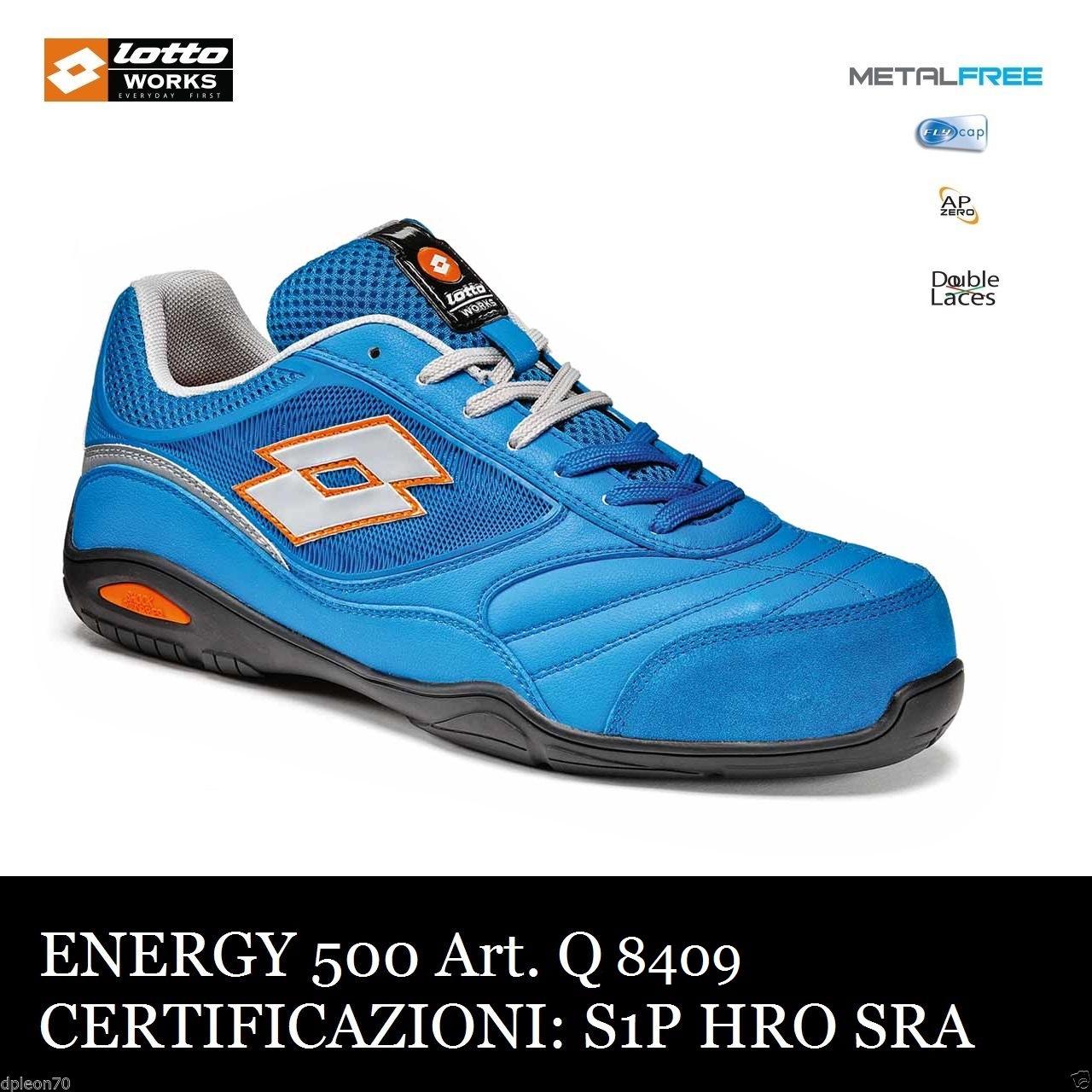sito affidabile 7d4d6 df597 Scarpe antinfortinistiche LOTTO WORKS ENERGY 500 Q8409 S1P SRA HRO BLU -  Calzature Lotto Works - Antinfortunistica abbigliamento calzature