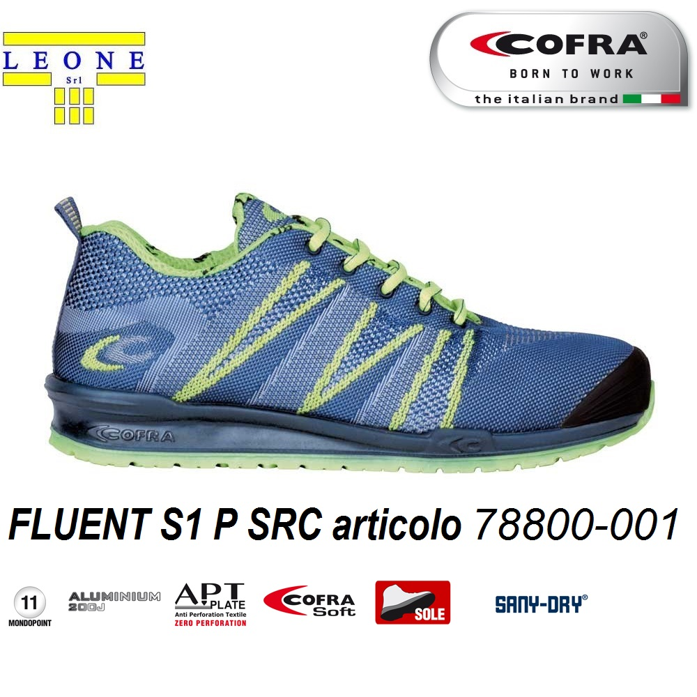 best cheap 91b26 85432 Scarpa antinfortunistica Cofra FLUENT S1 P SRC scarpe lavoro traspiranti  linea RUNNING - CALZATURE COFRA - Antinfortunistica abbigliamento calzature