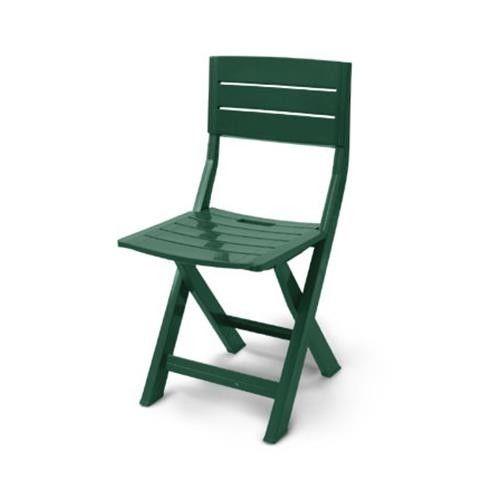 Sedie Di Plastica Pieghevoli.Sedia Plastica Pieghevole In Resina 100 Modello Gilda Colore Verde