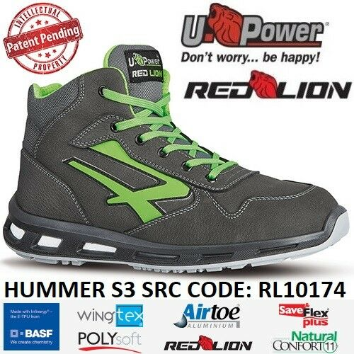Scarpe Antinfortunistiche U Power linea Red Lion modello HUMMER S3 CI SRC RL10174 UPower