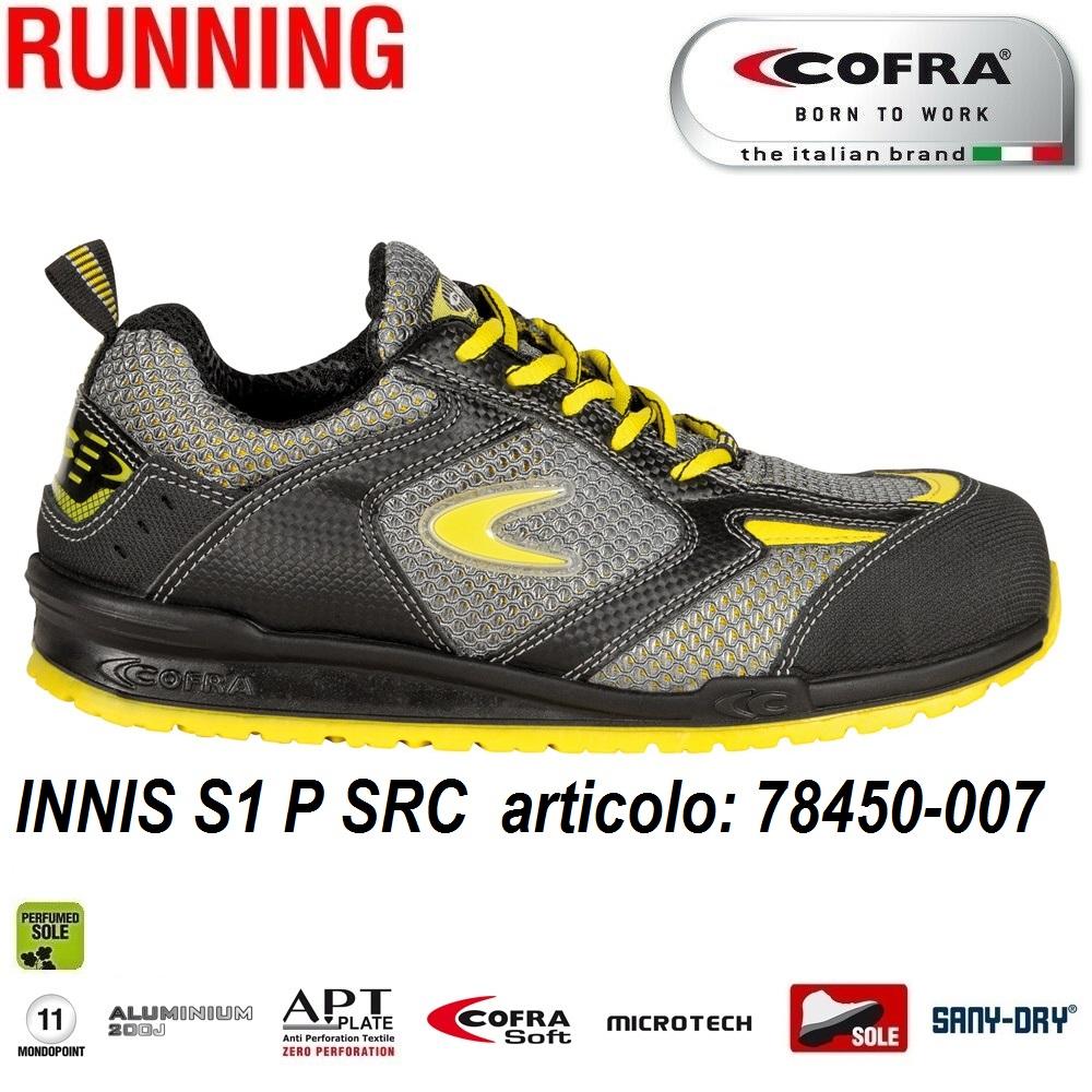 scarpe casual In liquidazione presa di fabbrica Scarpa antinfortunistica Cofra INNIS S1 P SRC scarpe lavoro tessuto  altamente traspirante e MICROTECH, protezione della punta in pelle  antiabrasione ...