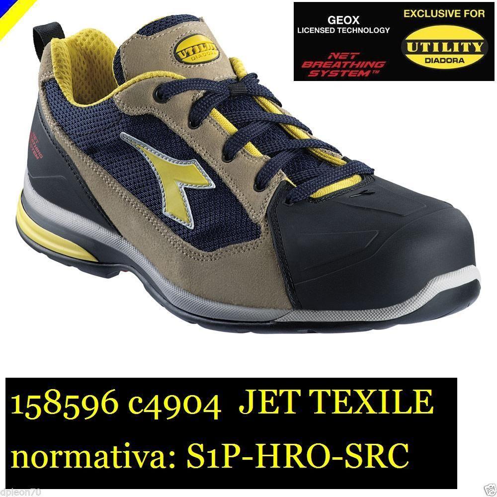 SCARPA BASSA ANTINFORTUNISTICA DIADORA NET REVOLUTION JET TEXTILE Beige  corda - Blu maiolica S1P-HRO-SRC 701.158596 C4904 3ae00fd1a93