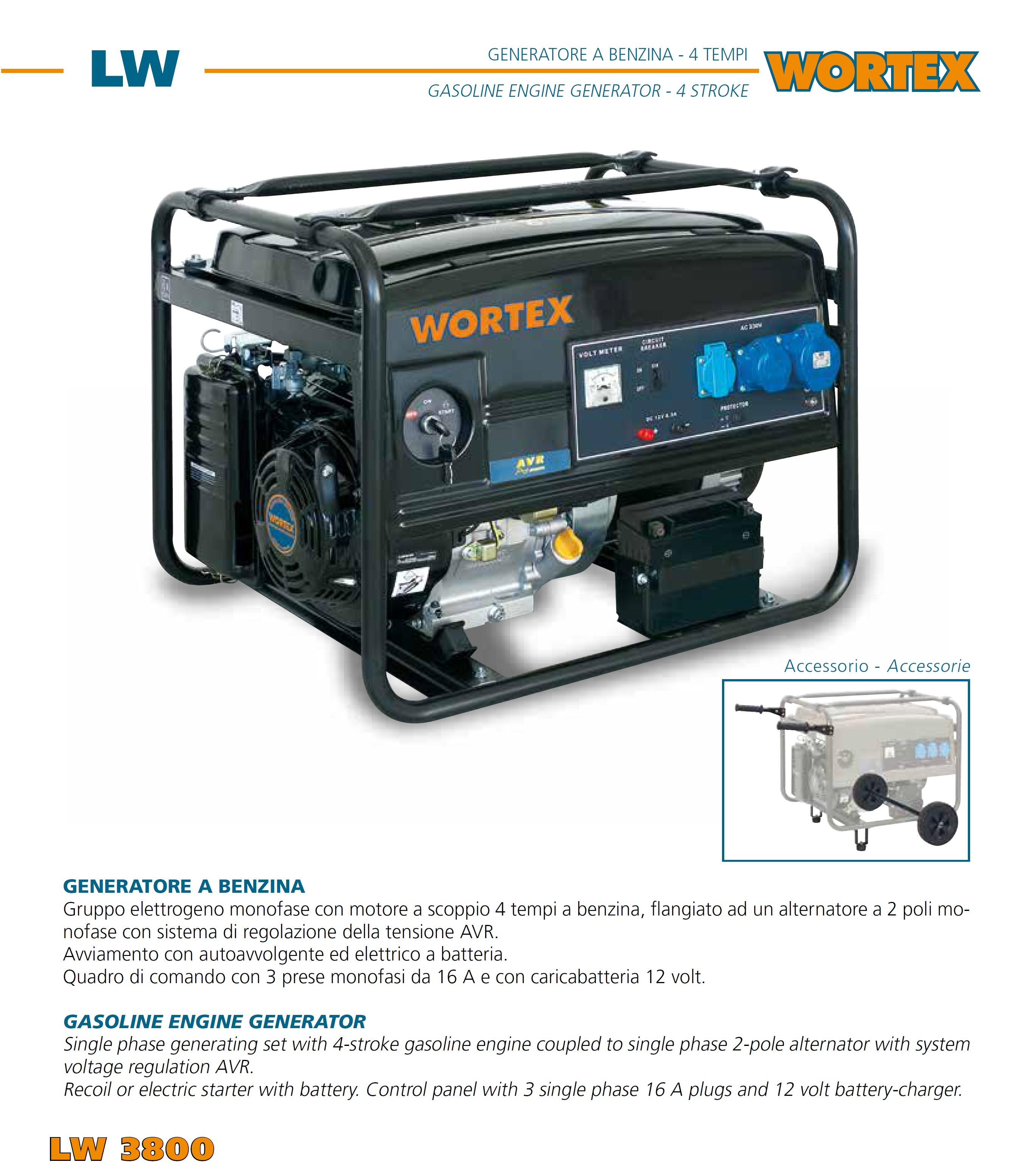 generatore di corrente 3kw 3100w gruppo elettrogeno