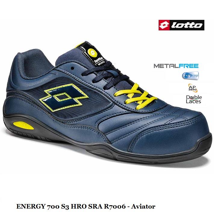 molto carino c8da2 d1c7d Scarpa antinfortunistica LOTTO WORKS ENERGY 700 R7006 S3 HRO SRA colore  Aviator - Calzature Lotto Works - Antinfortunistica abbigliamento calzature
