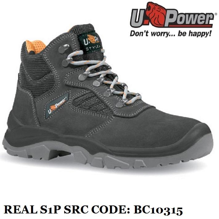 Scarpe Antinfortunistiche da Lavoro Alte puntale e lamina acciaio U-Power  Classe S1P SRC - Real - BC10315 UPower STYLE   JOB 2899cd7e1e5