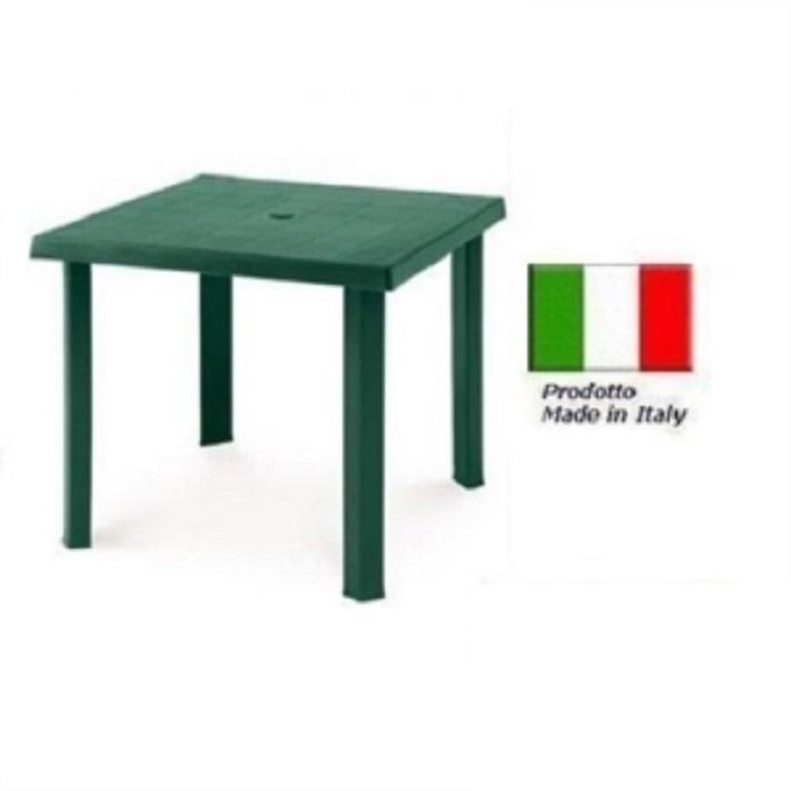 Tavolo In Plastica Giardino.Tavolo In Plastica Da Giardino Cm79 X Cm79 H Cm72 Colore Verde