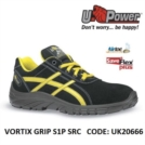 Scarpe Antinfortunistiche da Lavoro Basse Puntale in composito U-Power VORTIX GRIP S1P SRC - UK20666 UPower SK GRIP