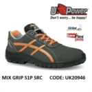 Scarpe Antinfortunistiche da Lavoro Basse Puntale in composito U-Power MIX GRIP S1P SRC - UK20946 UPower SK GRIP