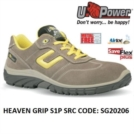 Scarpe Antinfortunistiche da Lavoro Basse Puntale in composito U-Power HEAVEN GRIP S1P SRC - SG20206 UPower SK GRIP