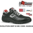 Scarpe Antinfortunistiche da Lavoro Basse Puntale in composito U-Power EVOLUTION GRIP S3 SRC - SG20214 UPower SK GRIP