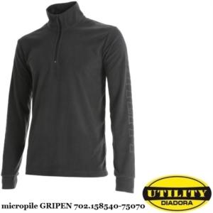Maglia felpa da lavoro GRIPEN Diadora Utility in micropile a mezza zip  Grigio acciaio 702.158540-75070 89165502802