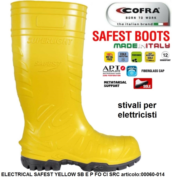 sfumature di scarpe eleganti salvare Stivale Antinfortunistica COFRA linea SAFEST BOOTS modello ...