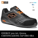 Scarpe antinfortinistiche LOTTO WORKS ENERGY 500 Q2004 S1P SRA HRO NERA