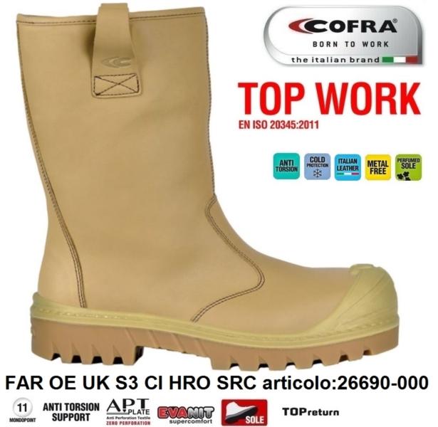 la vendita di scarpe grande qualità negozio online Scarpe Antinfortunistiche COFRA linea TOP WORK stivale tipo rigger ...