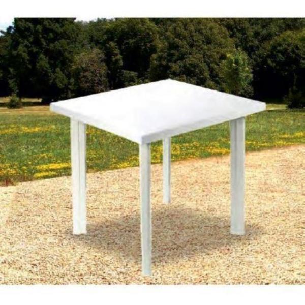 Tavoli In Resina Da Giardino.Tavolo In Plastica Da Giardino Cm 80 X Cm 75 H Cm72 Colore Bianco Modello Fiocco