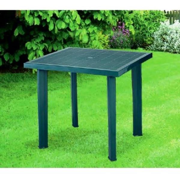 Tavoli Verde Da Giardino.Tavolo In Plastica Da Giardino Cm 80 X Cm 75 H Cm72 Colore Verde Modello Fiocco