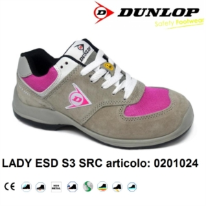 DUNLOP SCARPE ANTINFORTUNISTICA DONNA LADY ESD S3 SRC metal free 0201024