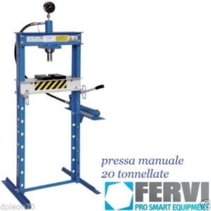 Pressa idraulica 20 ton manuale fervi con manometro for Pressa fai da te