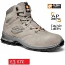 Scarpe antinfortunistiche LOTTO WORKS SPRINT 801 MID Q8353 S3 SRC alte impermeabili colore Cobble sand