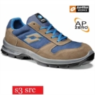 Scarpe antinfortunistiche LOTTO WORKS SPRINT II 850 R6992 S3 SRC impermeabili colore Dark sand - Blue medium
