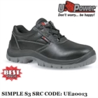 Scarpe Antinfortunistiche da Lavoro Basse Puntale e lamina Antiforo U-Power Classe S3 SRC Taglia 40 - Simple - UE20013 UPower ENTRY