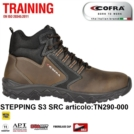 Scarpe Antinfortunistiche COFRA linea TRAINING tipo polacco STEPPING S3 SRC nubuck idrorepellente Metal Free TN290-000