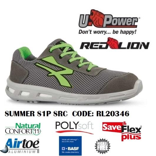 ineguagliabile vendita calda ultima vendita Scarpe Antinfortunistiche da Lavoro U-Power SUMMER S1P SRC RL20346 UPower  Red Lion