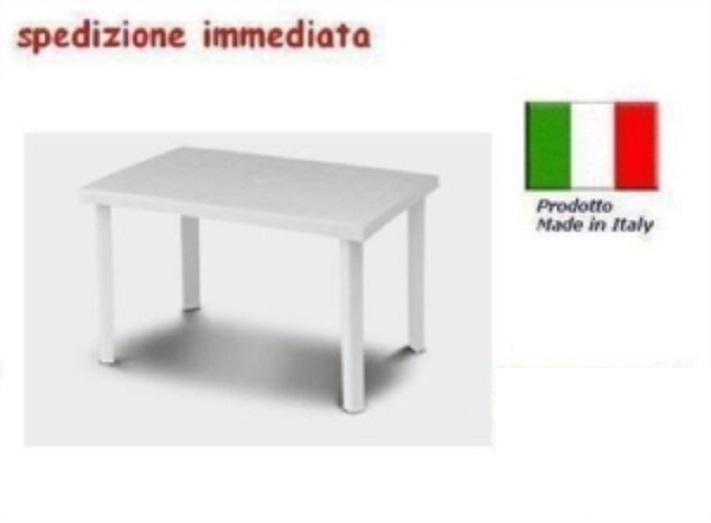 Tavolo Giardino Plastica Bianco.Tavolo In Plastica Da Giardino Cm 120 X Cm 80 H Cm72 Bianco Mod