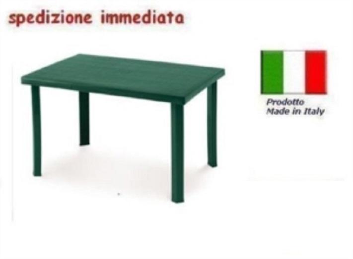 Tavolo In Pvc Da Giardino.Tavolo In Plastica Da Giardino Cm 120 X Cm 80 H Cm72 Verde Mod Calaf