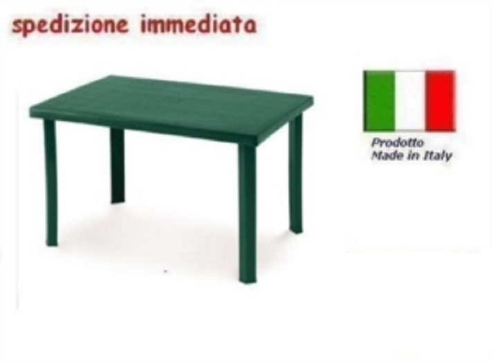 Tavolo Sedie Giardino Plastica.Tavolo In Plastica Da Giardino Cm 120 X Cm 80 H Cm72 Verde Mod
