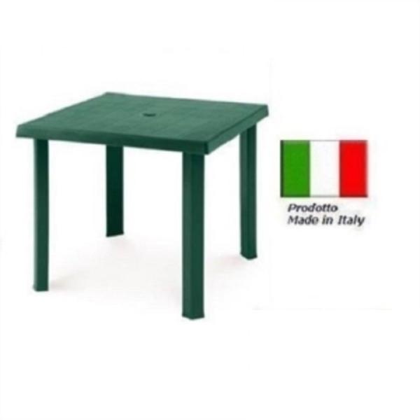 Tavolo Da Giardino Plastica Verde.Tavolo In Plastica Da Giardino Cm79 X Cm79 H Cm72 Colore Verde