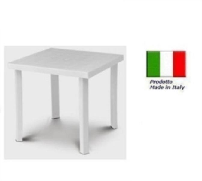 Tavolo In Plastica Bianco.Tavolo In Plastica Da Giardino Cm79 X Cm79 H Cm72 Colore Bianco Modello Figaro